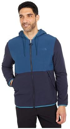 The North Face Mountain Sweatshirt Full Zip Hoodie (Blue Wing Teal/Aviator Navy) Men's Sweatshirt