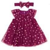 Baby Starters 2-Piece Tulle A-Line Dress and Headband Set