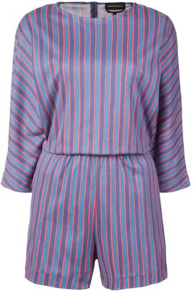 Vanessa Seward Stripe Fitted Playsuit