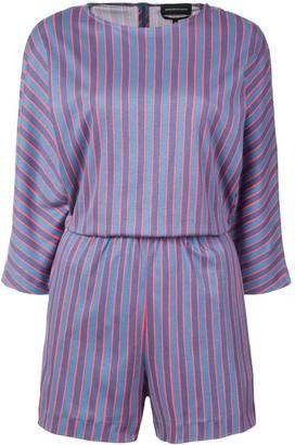 Vanessa Seward stripe fitted playsuit