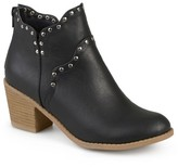 Journee Collection Women's Krisla Faux Leather Studded Booties