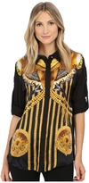Versace Long Sleeve Printed Blouse Women's Blouse