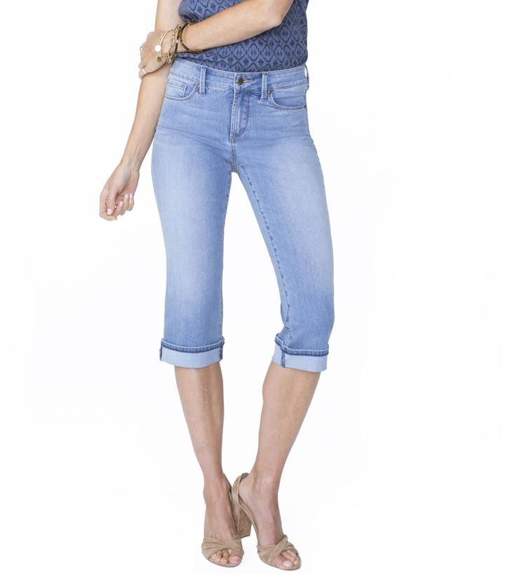 NYDJ Womens Plus Marilyn Crop Cuff Jean in Cool Embrace Denim