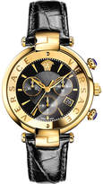 Versace VAJ04 0016 leather and gold-toned watch