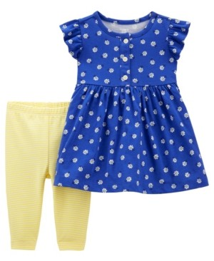 Carter's Baby Girl Floral Dress and Legging Set, 2 Pieces