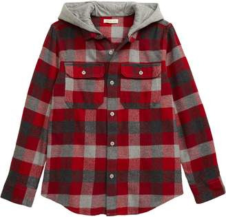 Tucker + Tate Knit Hooded Flannel Shirt