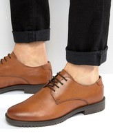 Asos Derby Shoes in Tan Leather With Heavy Sole