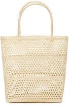 Sensi Studio Solid Calado Basket Tote Bag