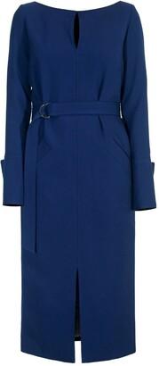 Diana Arno Lilith Pencil Dress in Autumn Blue
