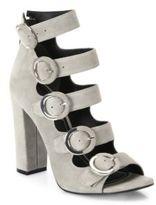 KENDALL + KYLIE Evie Suede Multi-Strap Block-Heel Sandals