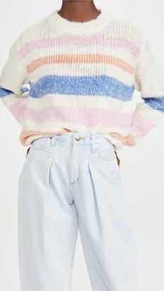 BB Dakota Making A Fuzz Stripe Sweater