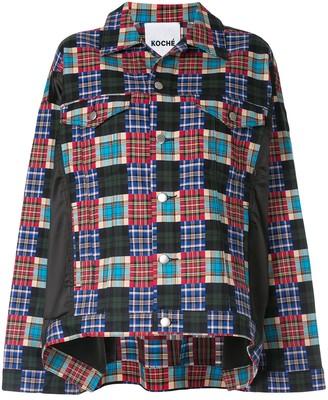Koché Crazy check print jacket