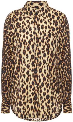 A.L.C. Leopard-print Silk-blend Crepe De Chine Shirt