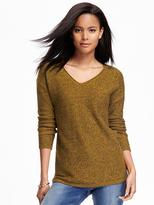 Old Navy Marled V-Neck Tunic Sweater for Women