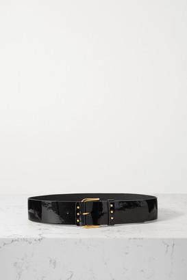 Saint Laurent Patent-leather Waist Belt - Black