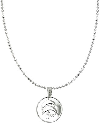 American Coin Treasures Dolphin Coin Necklace