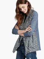 Lucky Brand Sweater Mix Drape Front