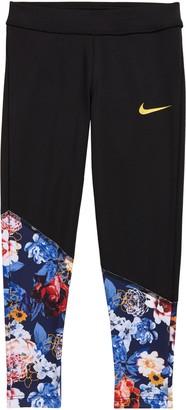 Nike Kids' Floral Contrast Leggings
