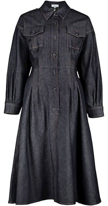Escada Raw Denim Shirt Dress