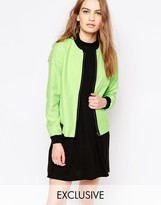 Helene Berman Lime Bomber Jacket