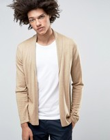Asos Open Shawl Cardi in Merino Wool Mix