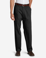 Eddie Bauer Men's Performance Dress Pleated Khaki Pants - Classic Fit