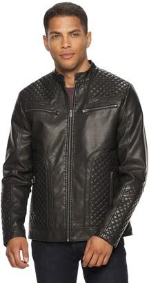 X-Ray Xray Men's XRAY Washed Faux-Leather Moto Jacket