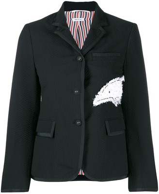 Thom Browne Narrow Shoulder Seersucker Blazer