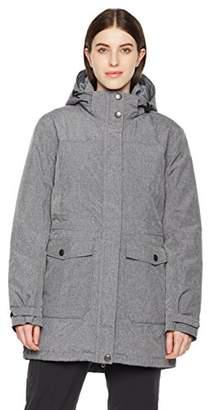Outdoor Ventures Women's Waterproof Lightweight Outdoor Quilted Rain Coat Windbreaker Hooded Long Rain Jacket