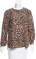 Steven Alan Leopard Print Silk Top