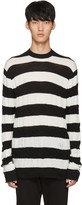Junya Watanabe Black and White Distressed Pullover
