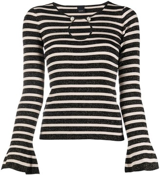 Pinko Striped Long-Sleeve Jumper