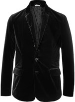 Tomas Maier - Black Slim-fit Unstructured Stretch-cotton Velvet Blazer