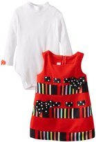 Bonnie Baby Baby-Girls Infant Stripe and Solid Corduroy Jumper