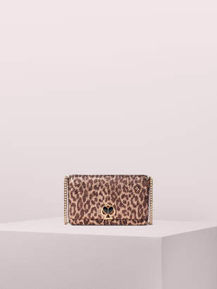 Kate Spade nicola metallic leopard twistlock chain wallet