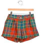 Oscar de la Renta Boys' Plaid Wool Shorts