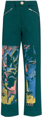 Bethany Williams Butterfly Cafe organic cotton sweatpants