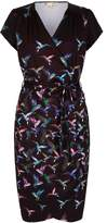 Yumi Wrap Dress With Humming Bird Print