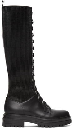 Gianvito Rossi Black Martis 20 Tall Boots