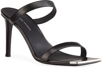 Giuseppe Zanotti 85mm Two Band Stiletto Slide Sandals