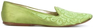 Giorgio Armani Pre Owned Floral Brocade Effect Ballerina Flats