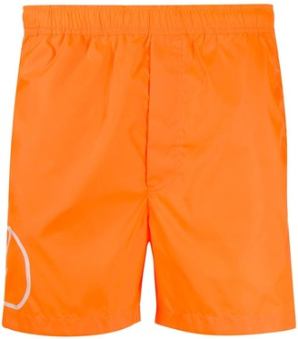 Valentino Logo Print Swim Shorts