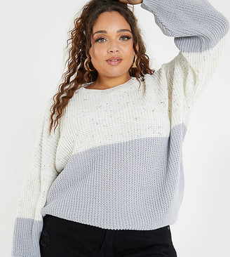 In The Style Plus X Jac Jossa knitted colour-block jumper