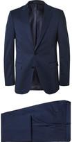 Navy Slim-Fit Stretch-Cotton Suit