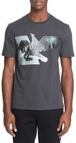 Neil Barrett Men's Horse Eagle Hybrid T-Shirt