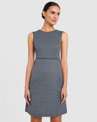 Forcast Moriah Geo Print Sheath Dress