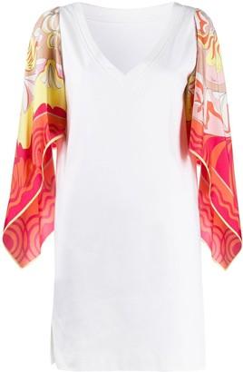Emilio Pucci Printed Kimono Sleeve Dress