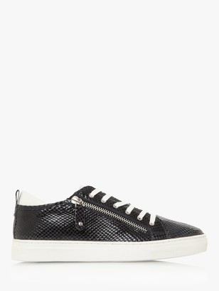 Dune Elicia Leather Side Zip Trainers