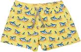 MC2 Saint Barth Shark Print Nylon Swim Shorts