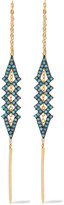 Noir Herron gold-plated turquoise earrings